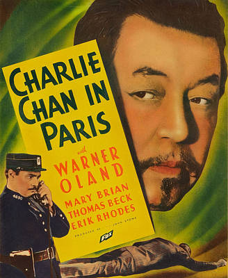 Charlie Chan In Paris, Warner Oland Poster by Everett
