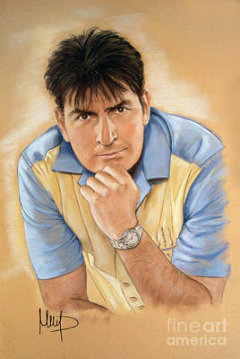 Charlie Sheen Poster by Melanie D
