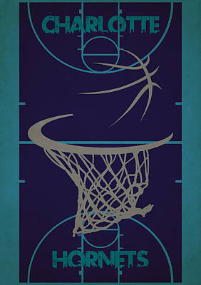 Charlotte Hornets Court Poster by Joe Hamilton