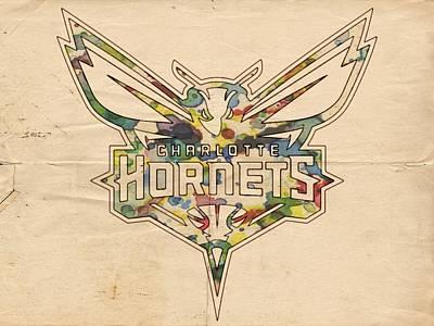 Charlotte Hornets Logo Art Poster