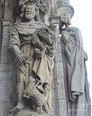 Poster featuring the photograph Chartres Cathedral Knight by Deborah Smolinske