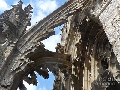 Poster featuring the photograph Chartres Flying Buttress by Deborah Smolinske