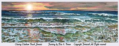 Chasing Chatham Beach Sunsets Poster by Rita Brown
