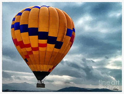 Chasing Hot Air Balloons Poster by Glenn McCarthy Art and Photography