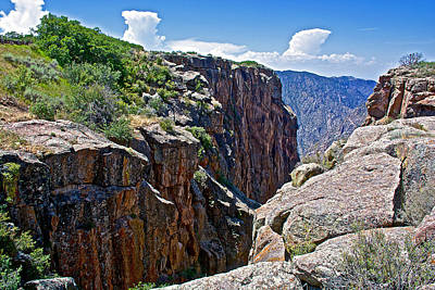 Chasm Near Beginning Of Warner Point Trail In Black Canyon Of The Gunnison National Park-colorado Poster by Ruth Hager