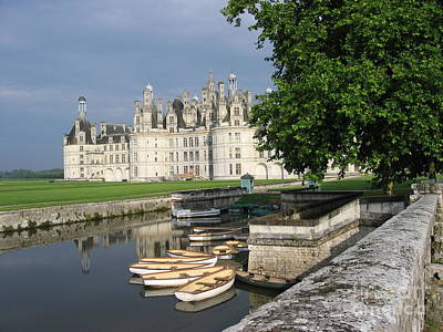Chateau Chambord Boating Poster by HEVi FineArt