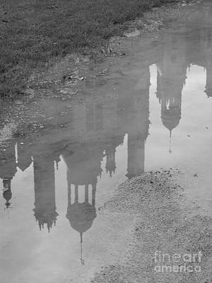 Poster featuring the photograph Chateau Chambord Reflection by HEVi FineArt