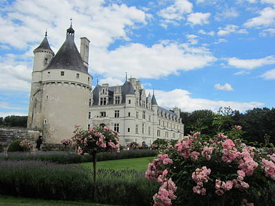 Poster featuring the photograph Chateau Chenonceau by Pema Hou