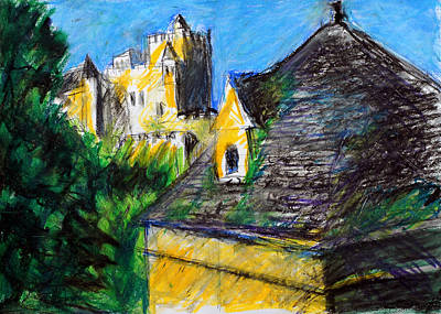 Chateau In Dordogne France Poster by Paul Sutcliffe