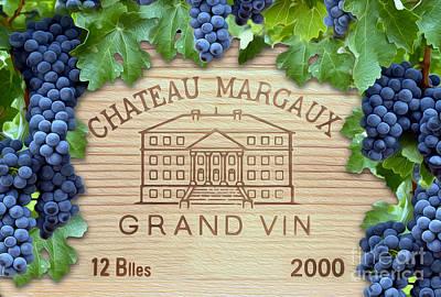Chateau Margaux Poster by Jon Neidert