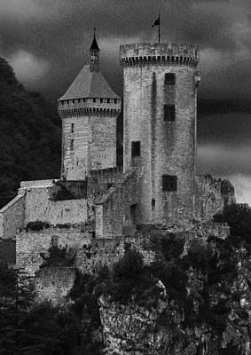 Chateau Tower Monochrome Poster