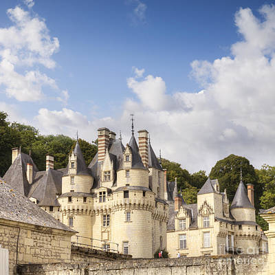 Chateau Usse Loire Valley France Poster by Colin and Linda McKie