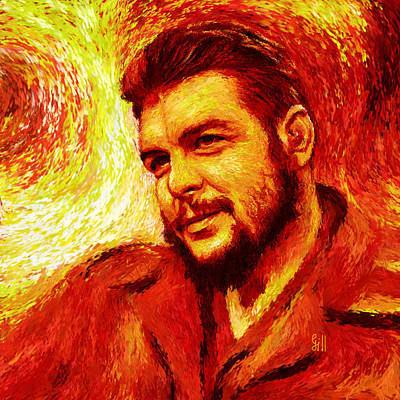 Che Red-yellow Poster by Shubnum Gill