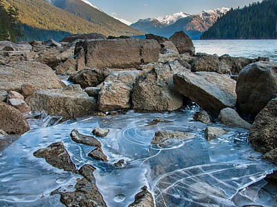 Cheakamus Lake Ice Poster