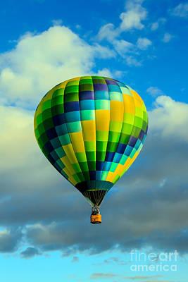Checkered Balloon Poster