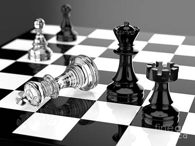 Checkmate Poster by Tomislav Zivkovic