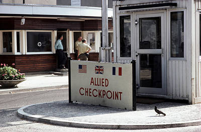 Checkpoint Charlie, West Berlin Poster by Jan Lukas