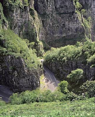 Cheddar Gorge And Road Poster