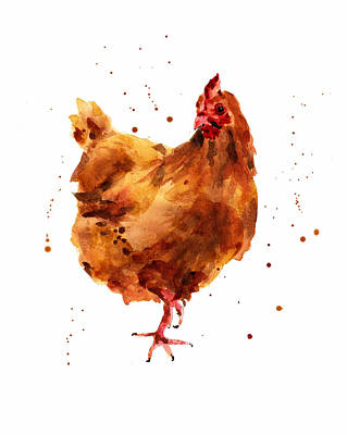 Cheeky Chicken Poster by Alison Fennell