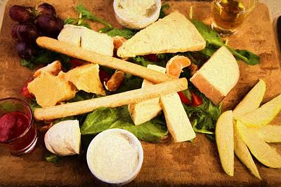 Cheese And Fruit Poster by Roberto Giobbi
