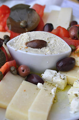 Cheese And Olives Poster