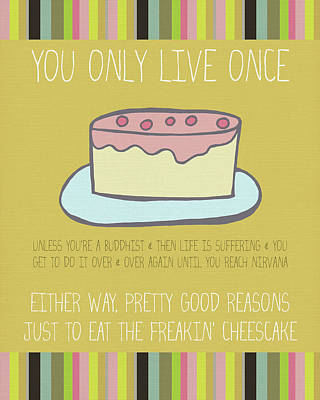 Cheesecake Poster by Lisa Barbero