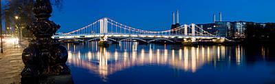 Chelsea Bridge With Battersea Power Poster by Panoramic Images
