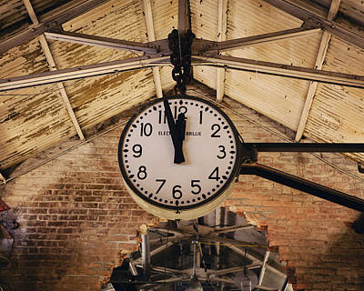 Poster featuring the photograph Chelsea Market Clock by Kim Fearheiley