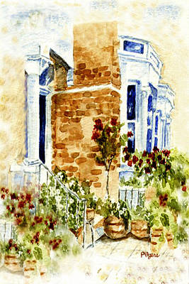 Poster featuring the painting Chelsea Row by Paula Ayers