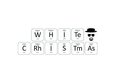 Chemistry - White Christmas Poster