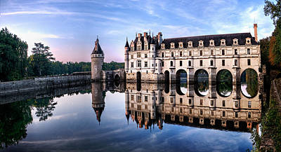 Chenonceau Castle In The Evening Poster