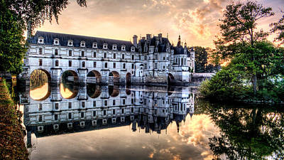 Chenonceau Sunset Poster