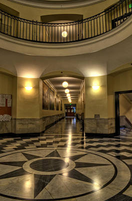 Cherokee County Courthouse Rotunda Poster by Greg Mimbs