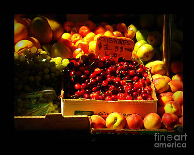 Poster featuring the photograph Cherries 299 A Pound by Miriam Danar