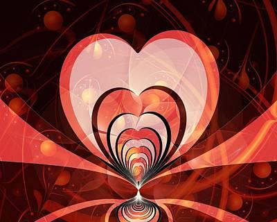 Cherries And Hearts Poster by Anastasiya Malakhova
