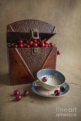 Cherries In The Box Poster by Elena Nosyreva