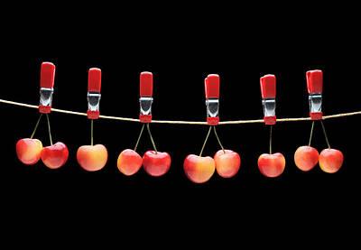 Cherries Poster by Krasimir Tolev