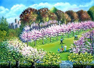 Cherry Blossems At The Brooklyn Botanical Garden Poster