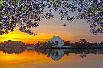 Cherry Blossom Sunrise Washington D.c. Poster