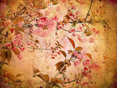 Cherry Blossom Tapestry Poster by Jessica Jenney