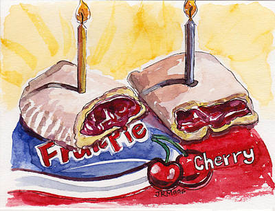 Cherry Pie Indulgence Poster by Julie Maas