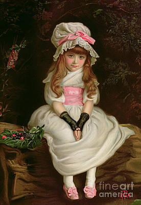 Cherry Ripe Poster by Sir John Everett Millais