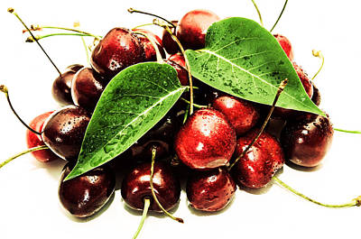 Cherry With Lovely Drops Poster