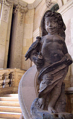 Poster featuring the photograph Cherub At The Entrance Of Zwinger Palace - Dresden Germany by Jordan Blackstone
