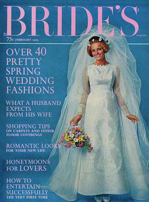 Cheryl Tiegs Wearing A Wedding Dress By Edythe Poster by Another Studio