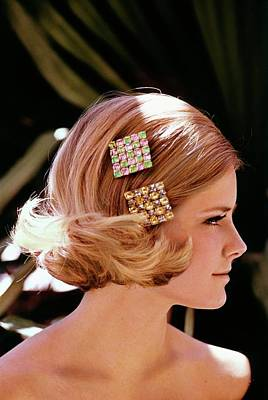 Cheryl Tiegs Wearing Rhinestone Barrettes Poster by William Connors