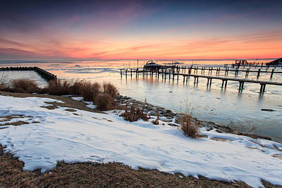 Poster featuring the photograph Chesapeake Bay Freeze by Jennifer Casey