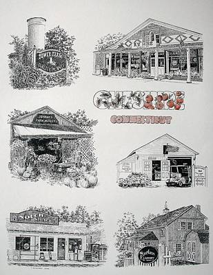 Cheshire Landmarks Poster