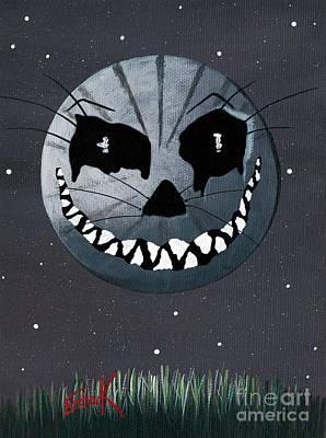 Alice In Wonderland Artwork - Cheshire Moon Poster by Shawna Erback