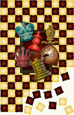 Chess Boxes Poster